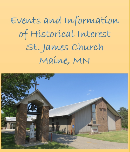 History of Saint James Church in Maine, Minnesota